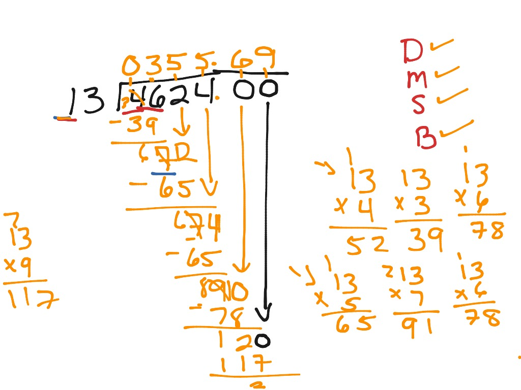 Dividing Decimals With A Remainder