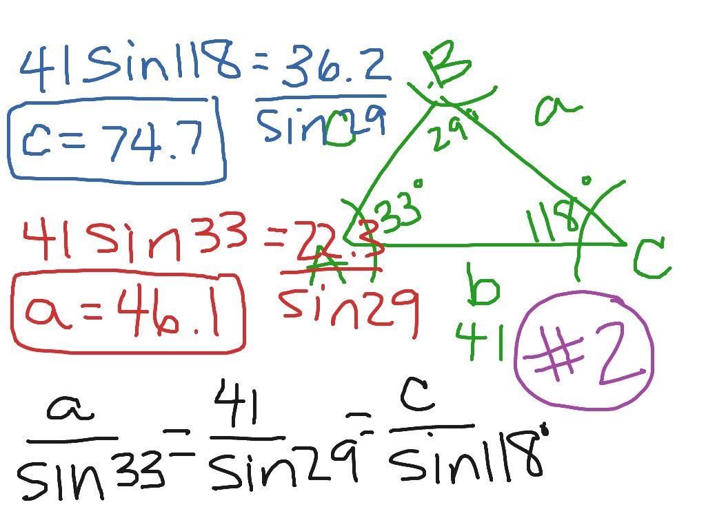 Law Of Sines Worksheet 5 6 2