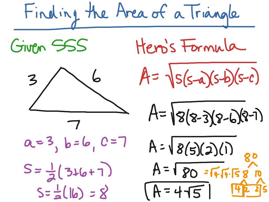 Area Of Triangle Hero S Formula