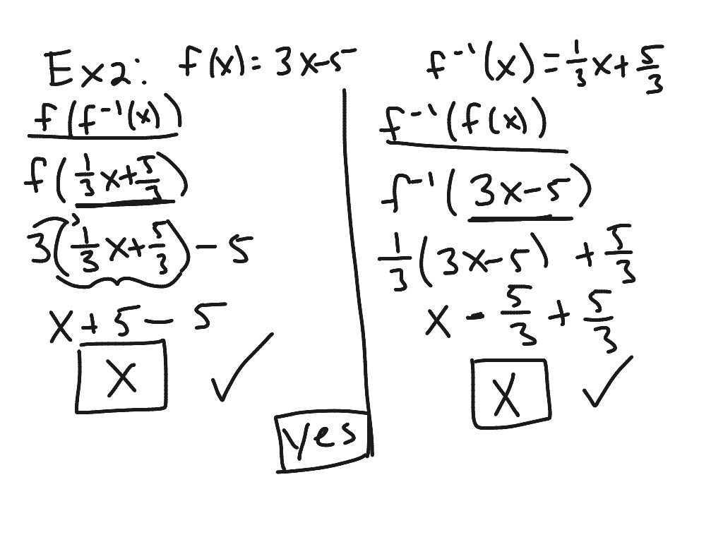 Algebra 2 6 4 Finding And Verifying Inverses