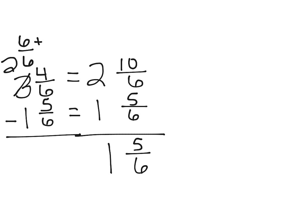 Subtracting Fractions Ungrouping