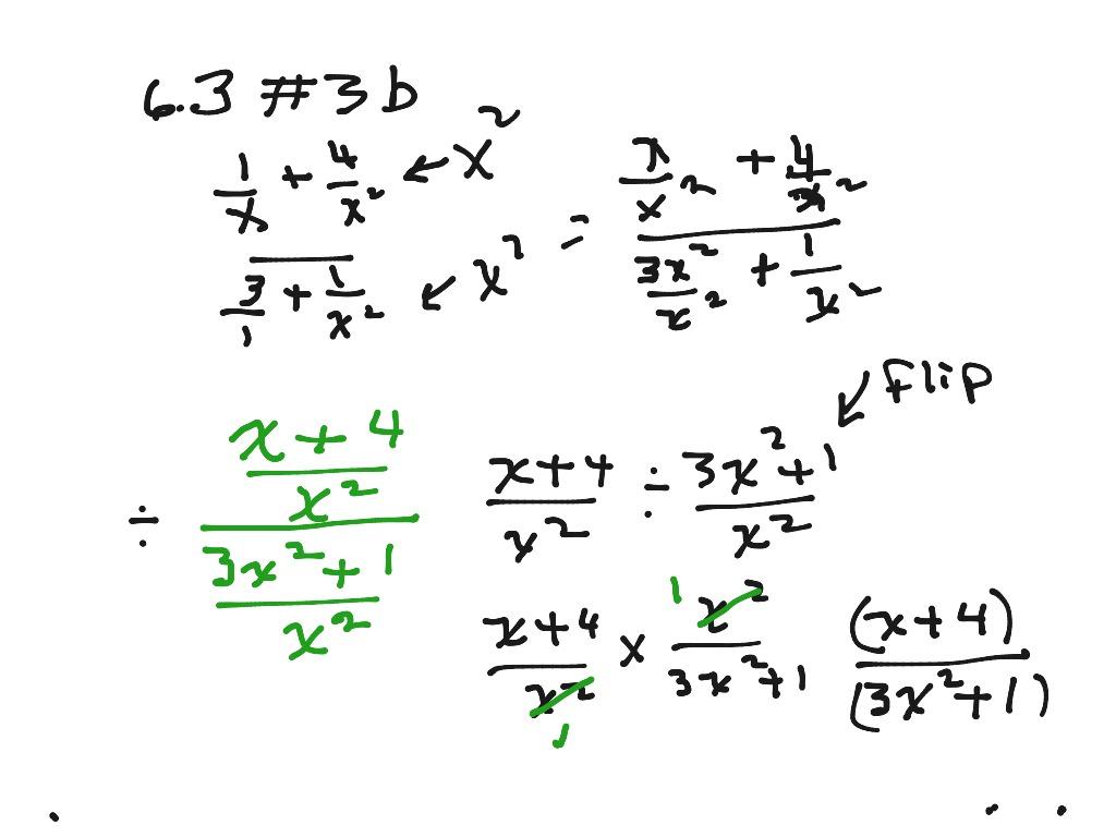 6 3 Complex Fraction 3b Class Worksheet