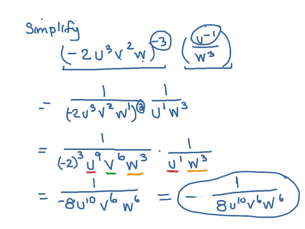 Mat Aleks Module 5 Power Product Quotient Rules W