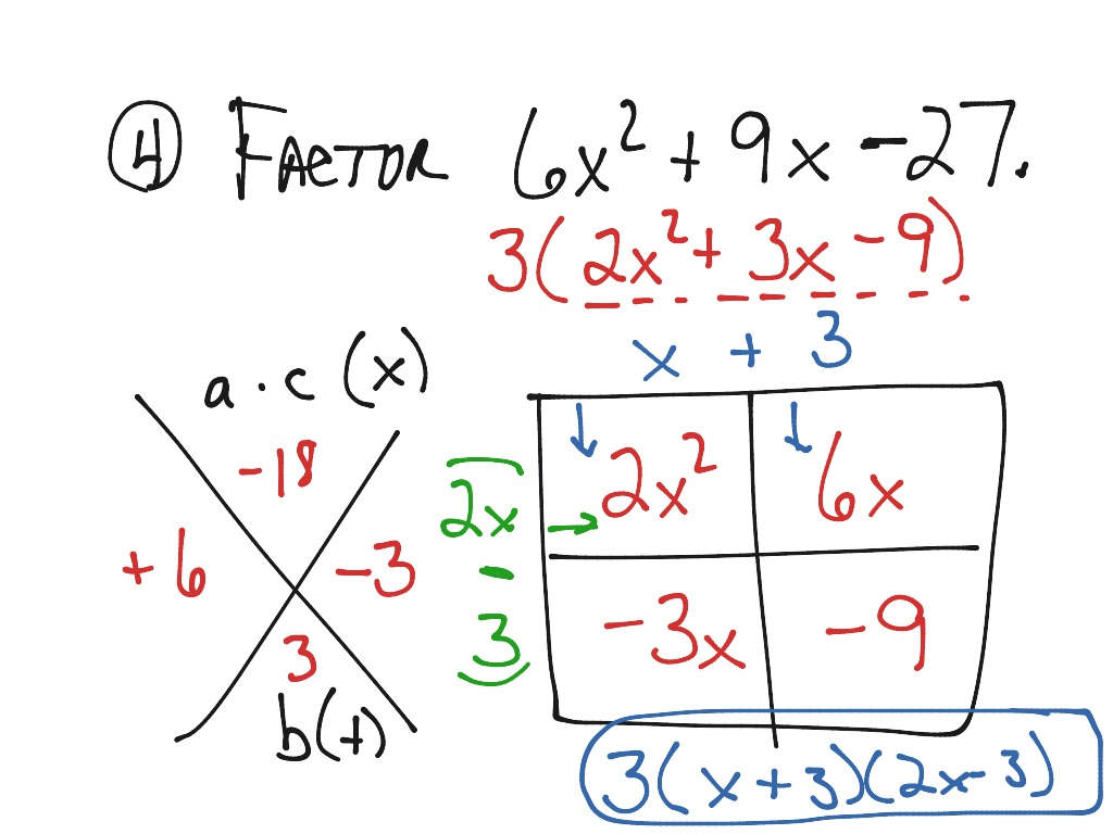Algebra Worksheet Section 10 7 Special Factoring