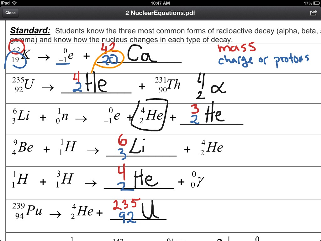 13 3 Writing A Balanced Nuclear Equation