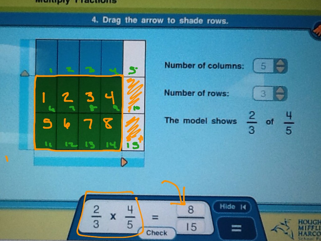 3 4 Use Area Model To Multiply Fractions