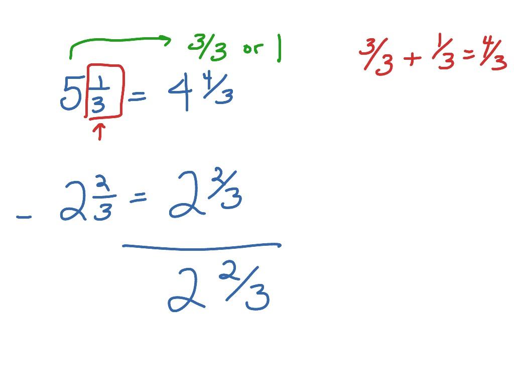 Worksheet Subtracting Mixed Numbers Worksheet Fun