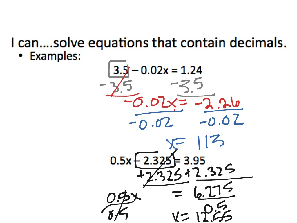 2 3 Solving Multi Step Equations With Fractions And