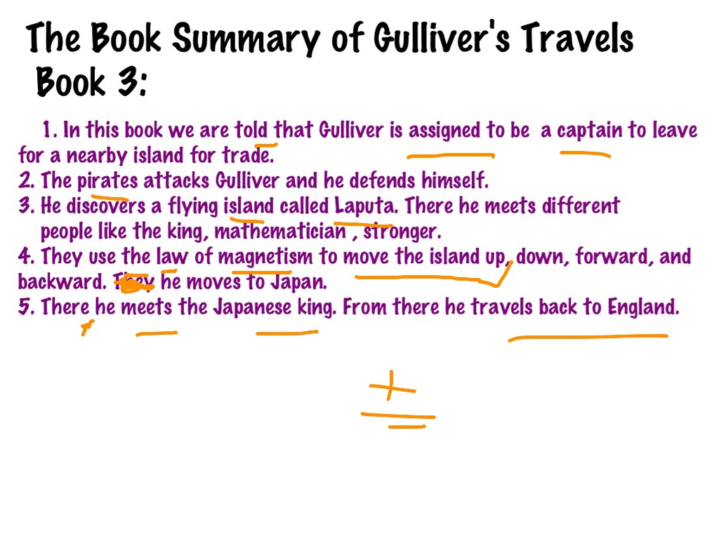 Gulliver S Travels The Book Summary 3