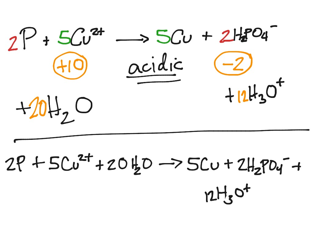 Balancing Redox Reactions In Acidic Conditions