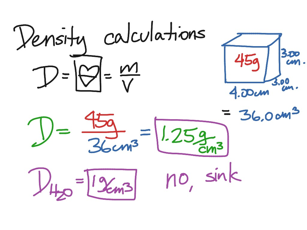 Amazing Density Calculations Worksheet Answers The Best Worksheets
