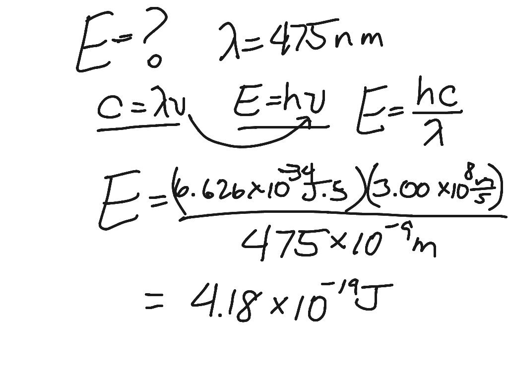Calculations Using Speed Of Light Equation Planck S