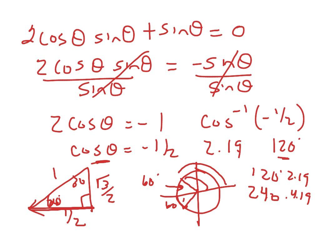 14 2 Solving Trigonometric Equations Using Inverses