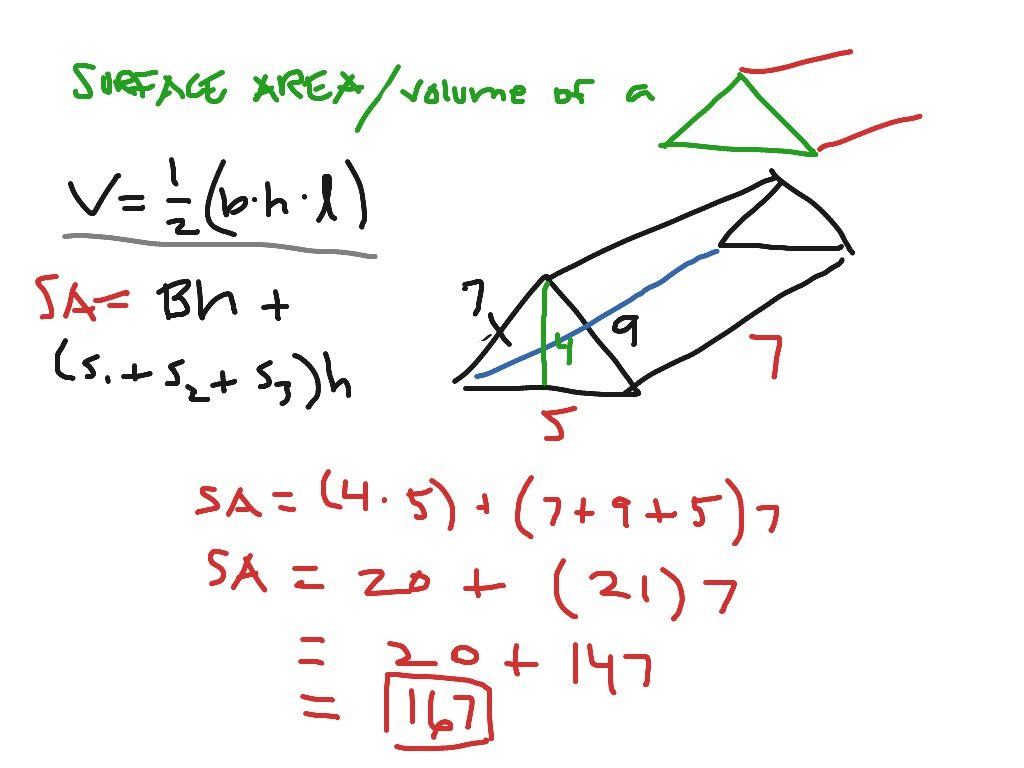 Surface Area And Volume Of A Triangular Prism