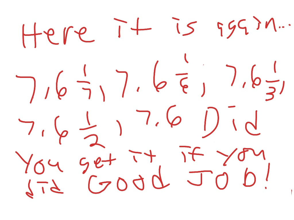 Math Decimal And Fractions Least To Greatest
