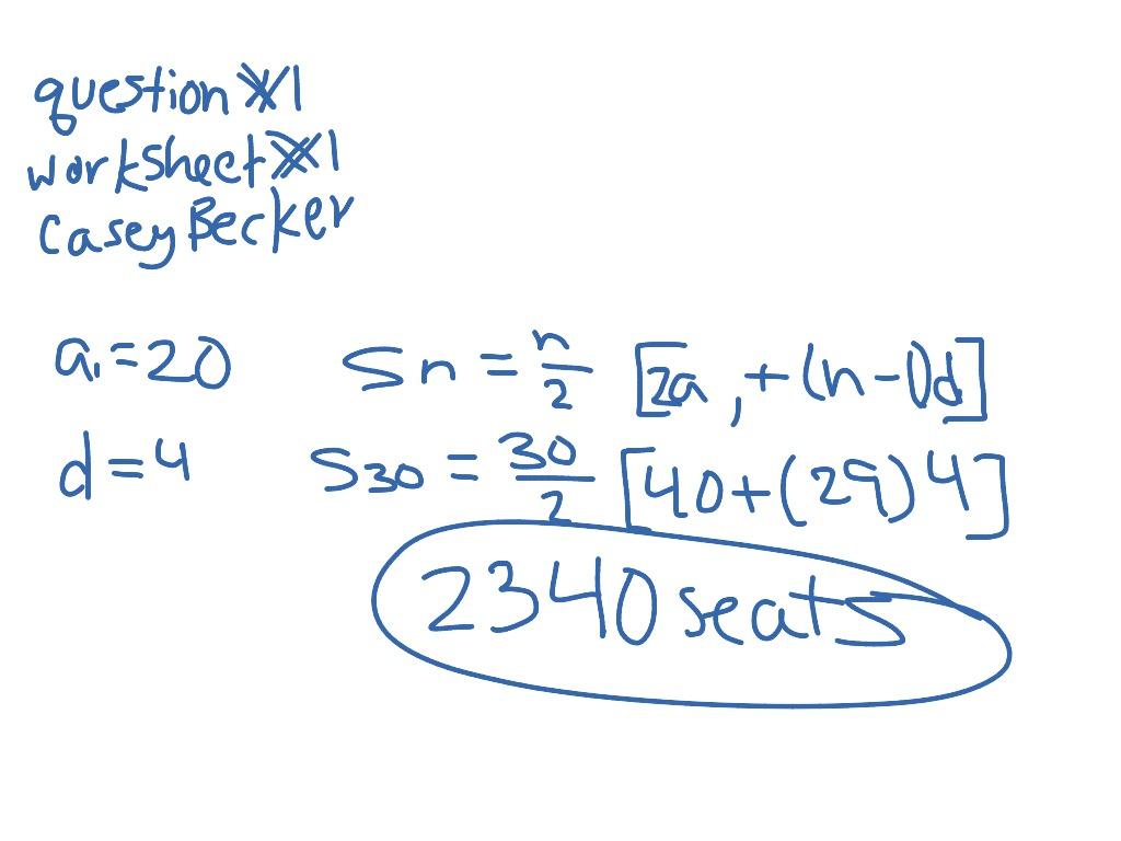 Question 1 Worksheet 1