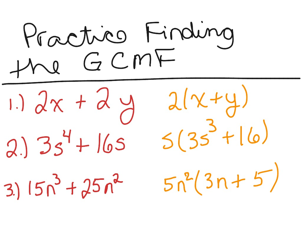Worksheet On Common Monomial Factoring