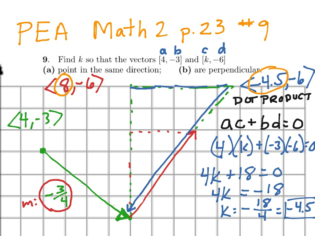 Parallel And Perpendicular Vectors