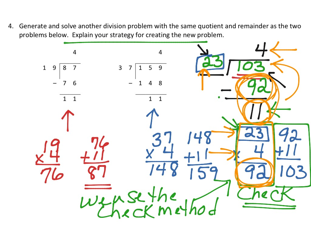 Solving Division Problems Solving Long Division Problems