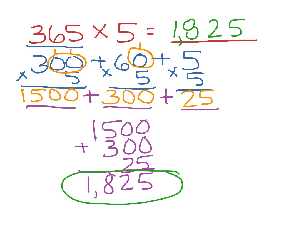 Expanded Form For Three Digit Multiply