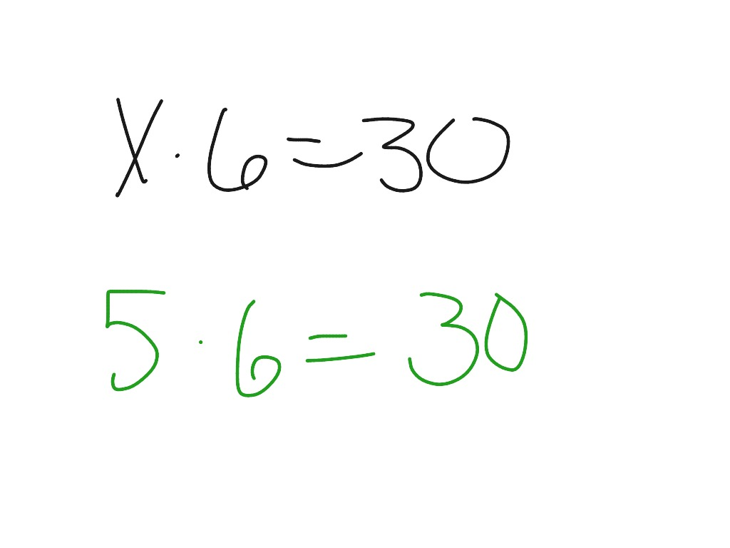 Solving 1 Step Equations Using Multiplication And Division