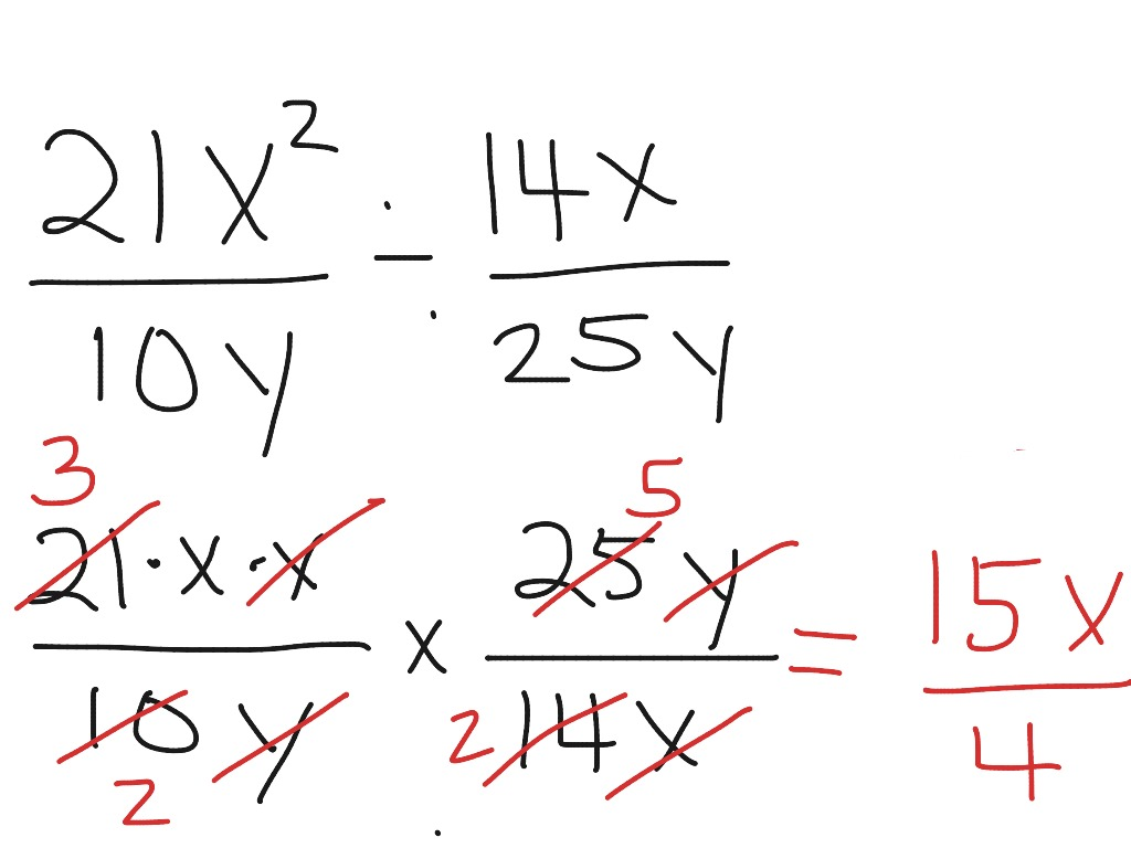 Dividing Fractions With Variables