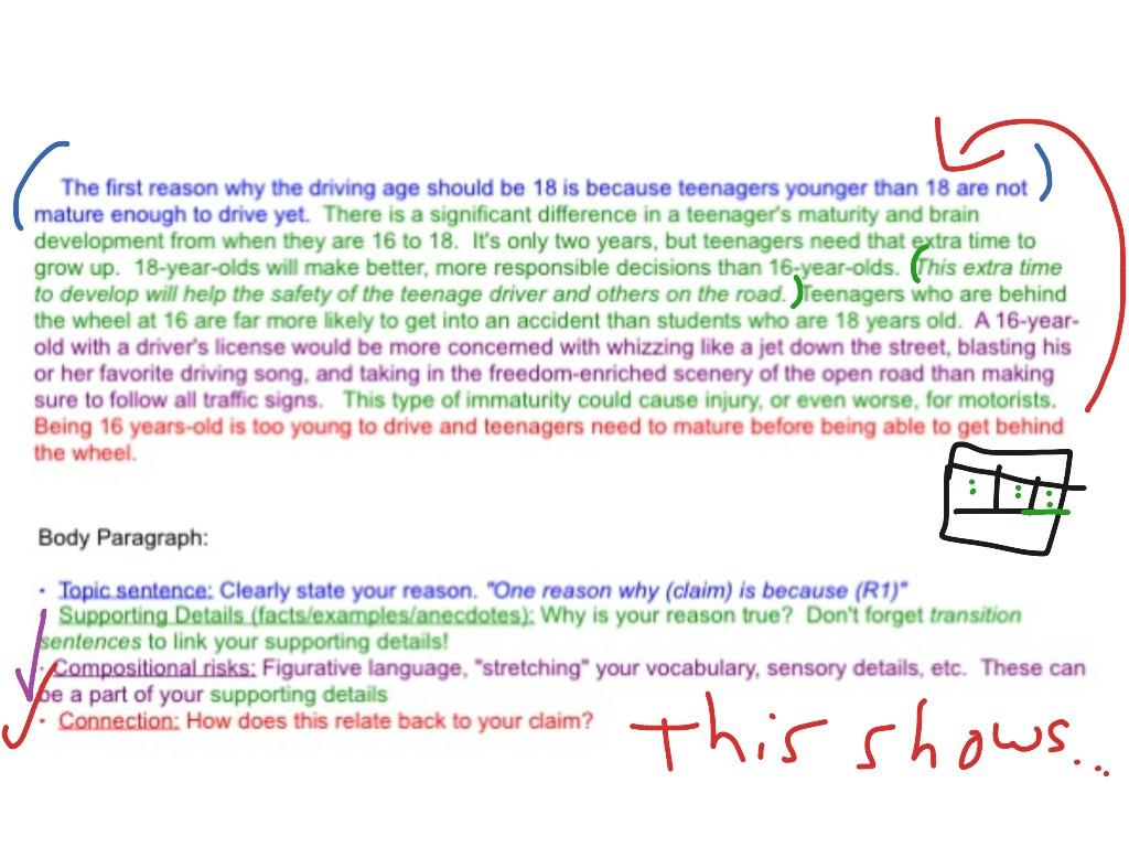 Persuasive Essay Body Paragraphs