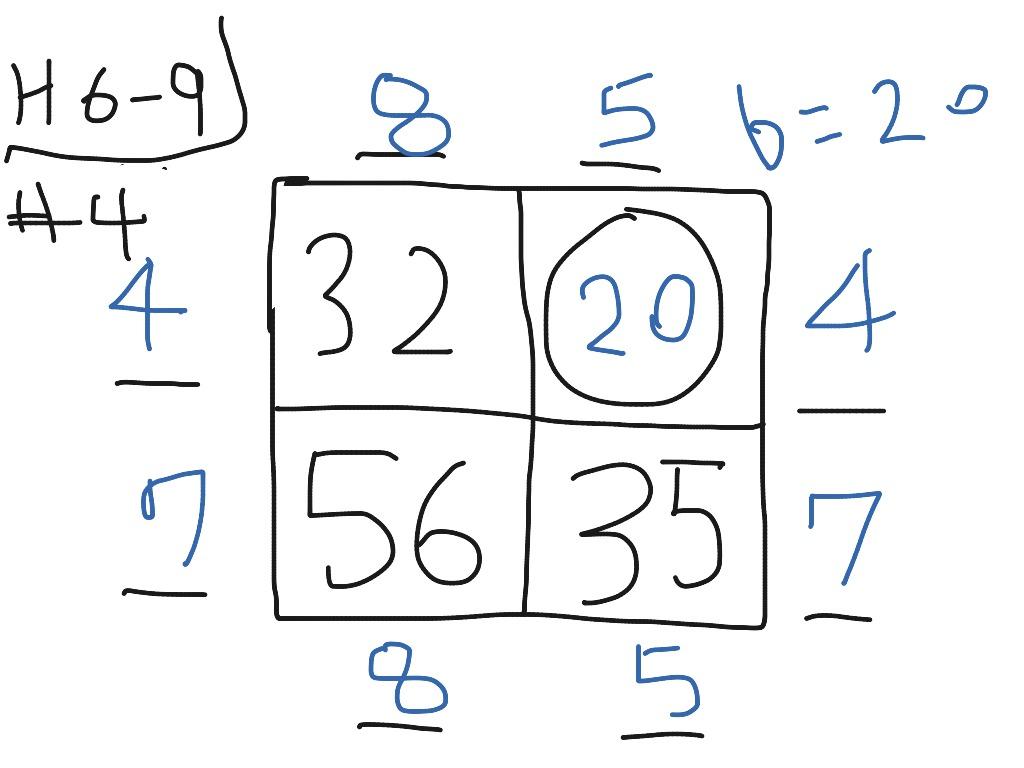 H 6 9 4 Factor Puzzle