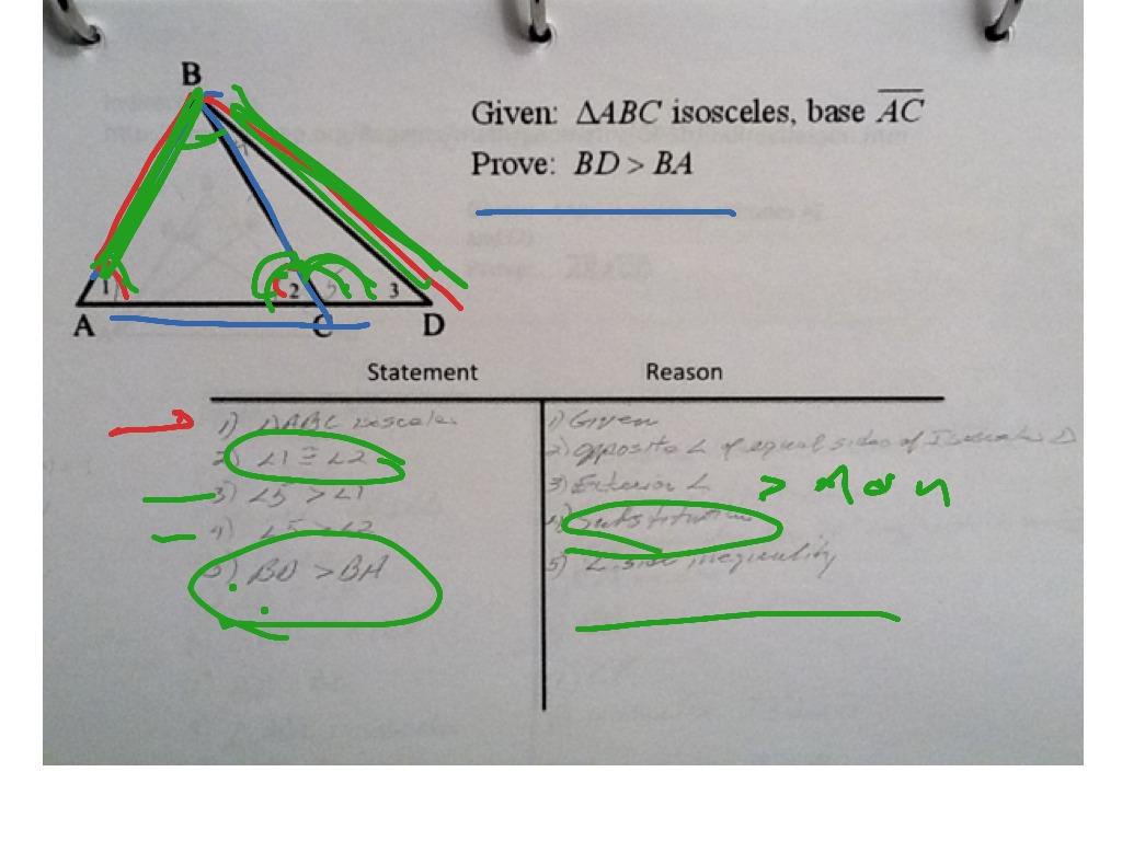 Using Triangle Inequalities To Prove An Inequality