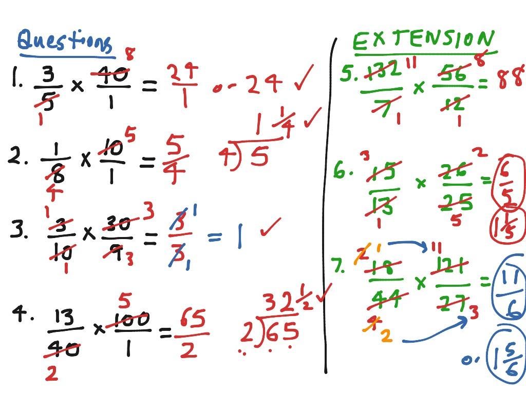 Worksheet Multipling Fractions Grass Fedjp Worksheet