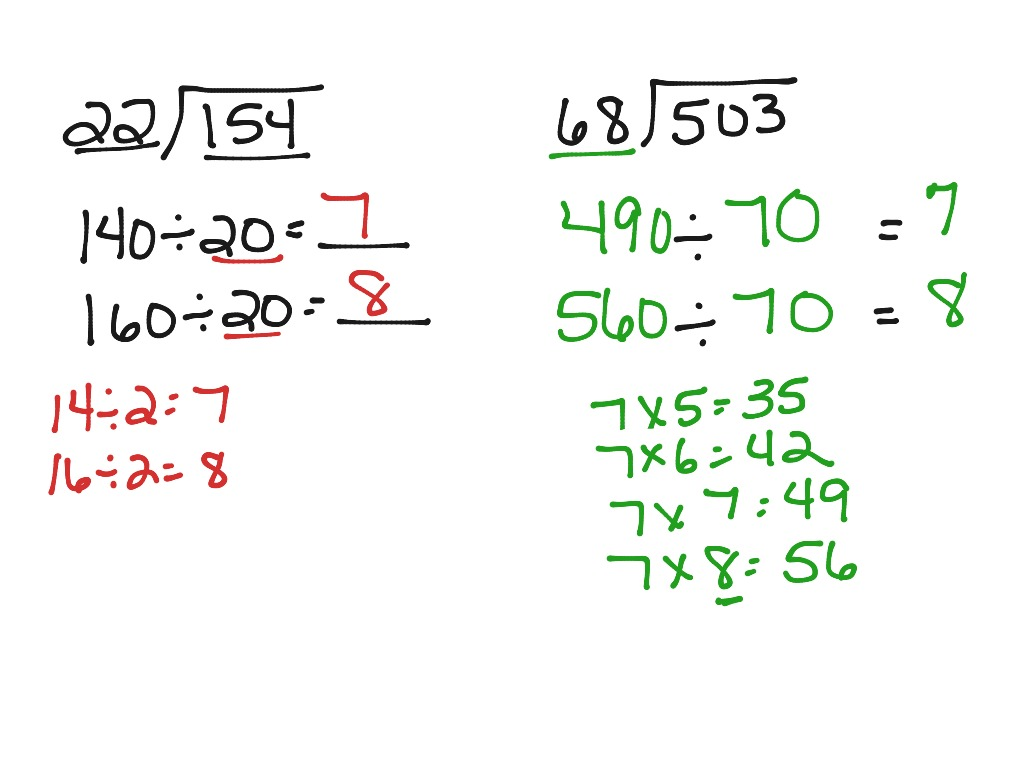 Division With 2 Digit Divisors 5th Grade Worksheets