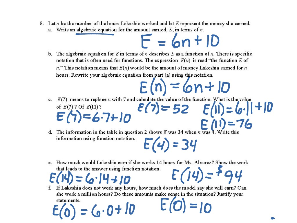 Worksheets Function Notation Worksheet Waytoohuman Free
