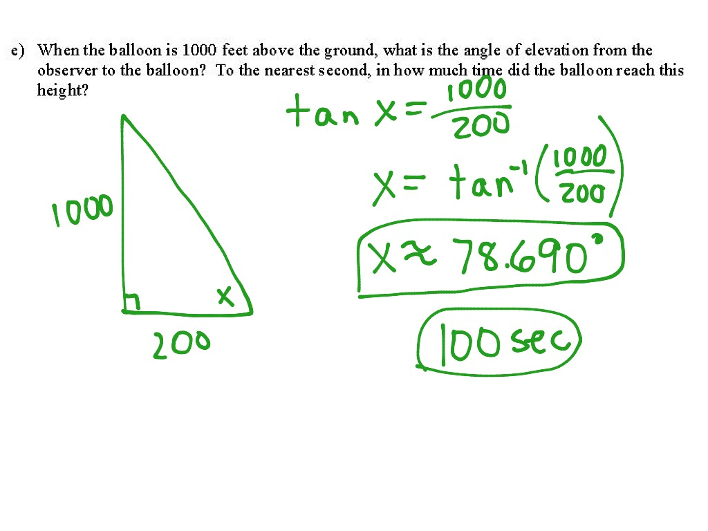 1 2 Intro To Related Rates Trig Ratios