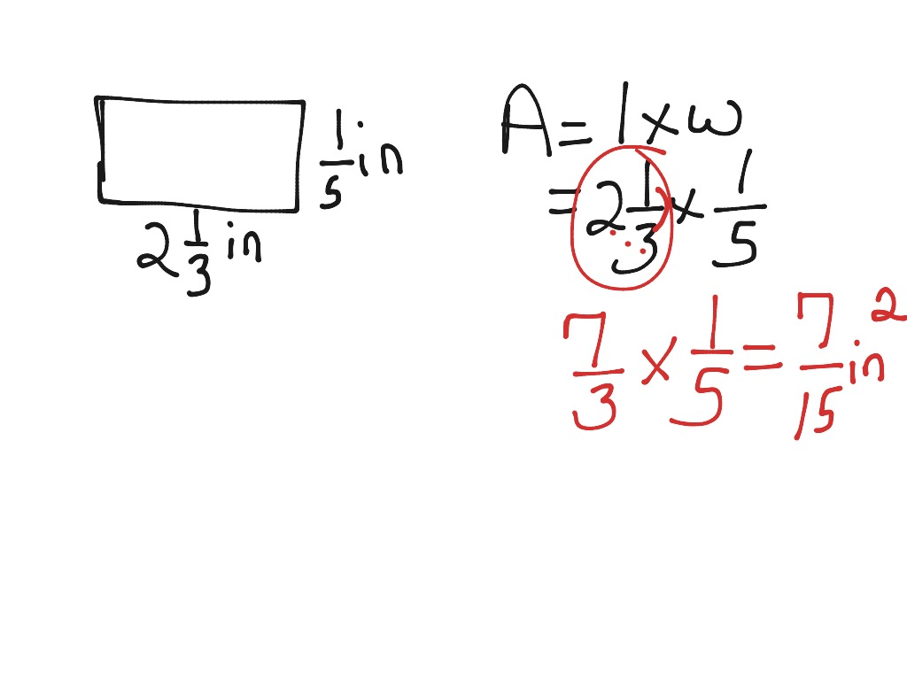 Find The Area Of A Rectangle With Fractional Side Lengths