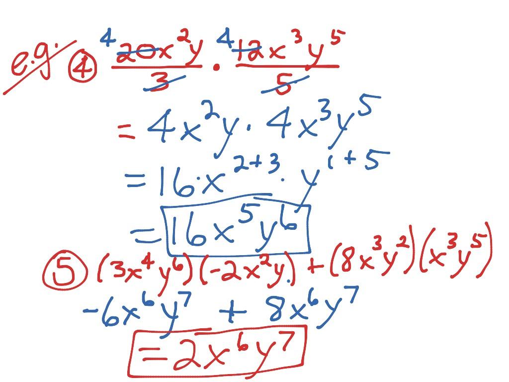 4 3 Multiplying Monomials