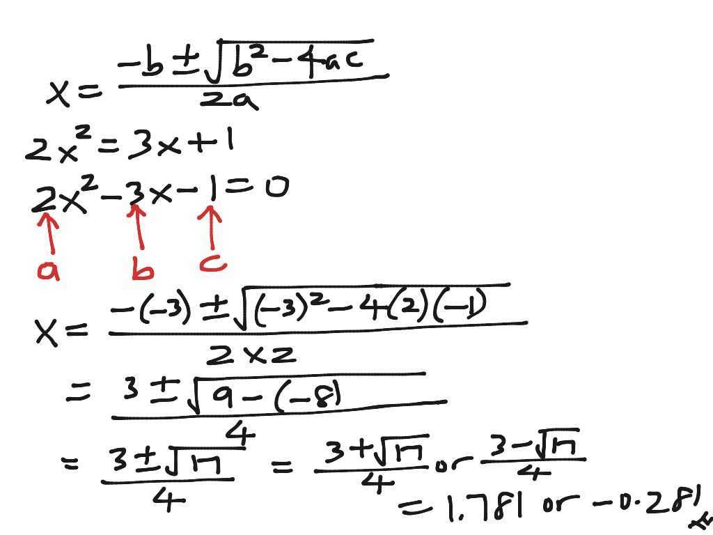 Chapter 3 Solving Quadratic Equation Using The Formula