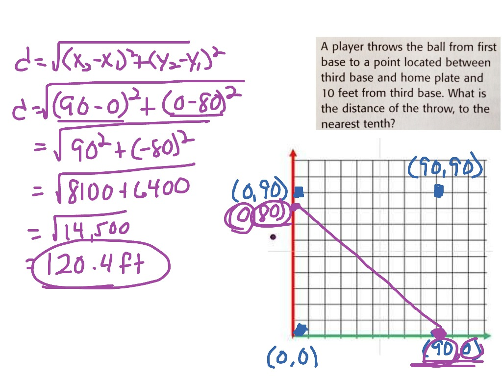 Distance Formula Word Problem