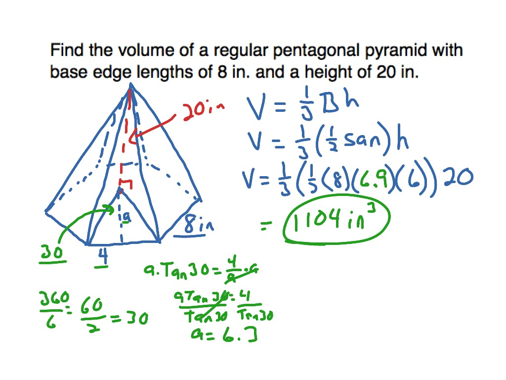 10 7 Volume Hexagonal Pyramid