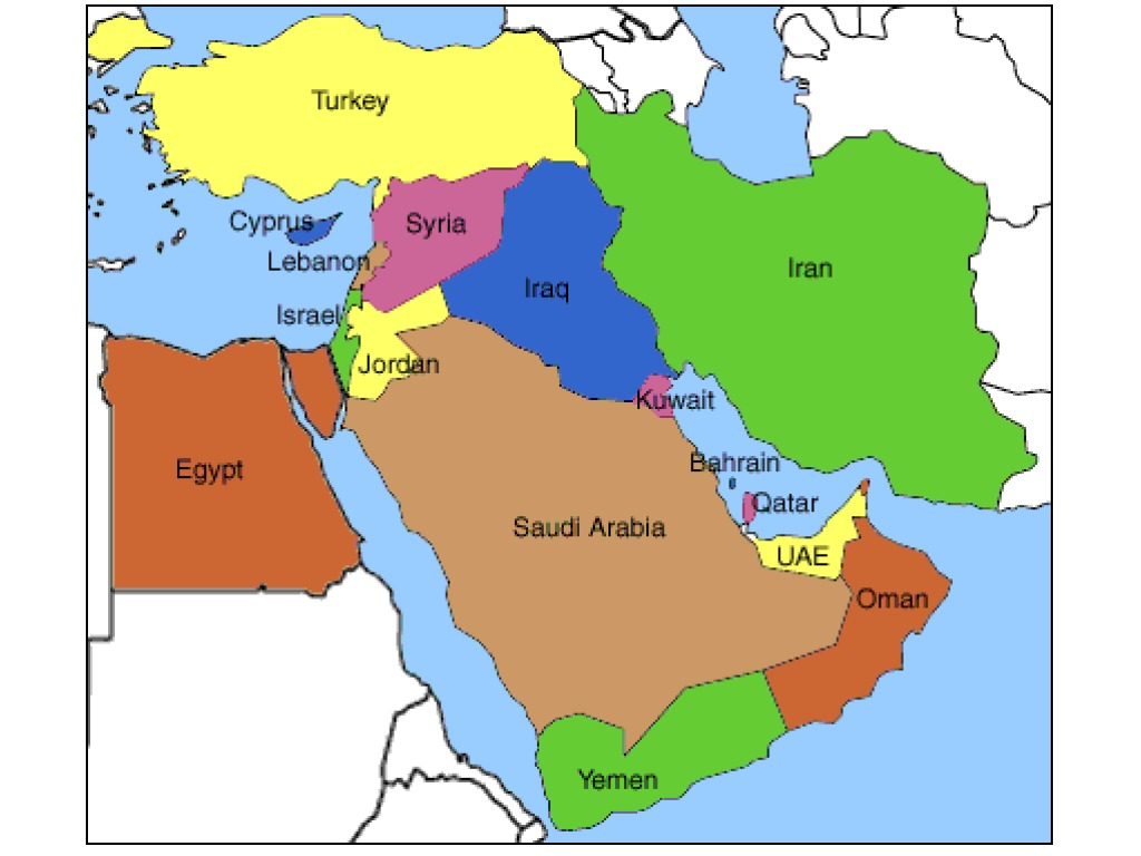 Middle East Mental Map