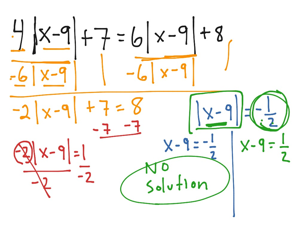 Absolute Value Equations Video 2