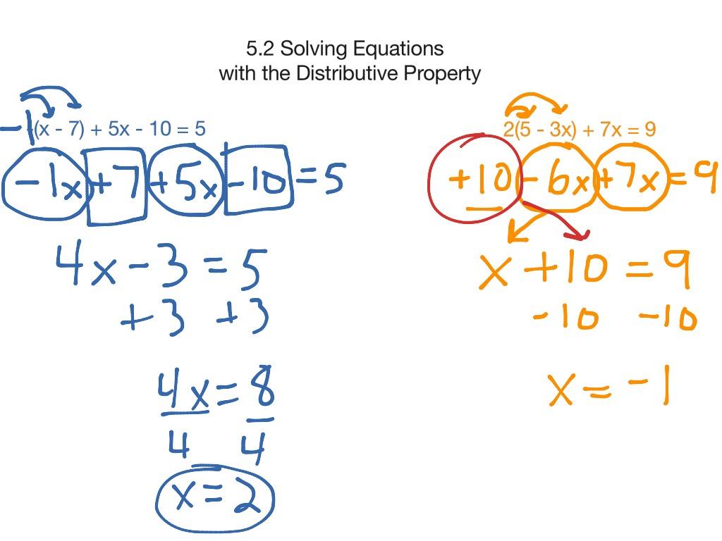 Algebra Worksheet Distributive Property