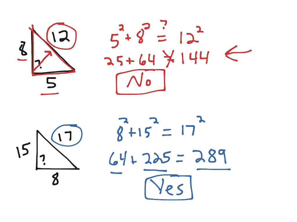 Pa 8 1 Pythagorean Theorem And Converse