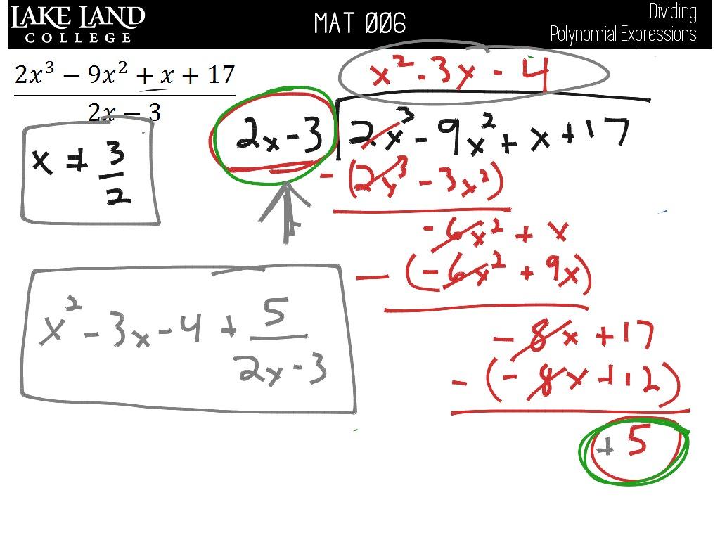 Llc1 8 Dividing Polynomial Expressions
