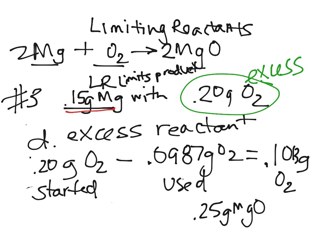 Skills Worksheet Problem Solving Limiting Reactants Answers