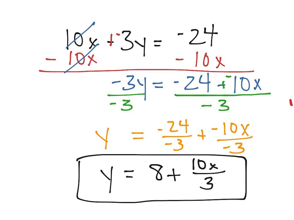 Rewriting Equations And Formulas