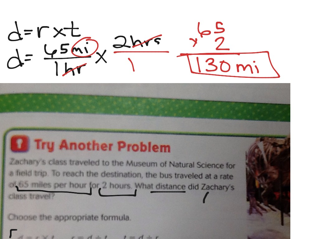 Lesson 6 5 Problem Solving Distance Rate And Time