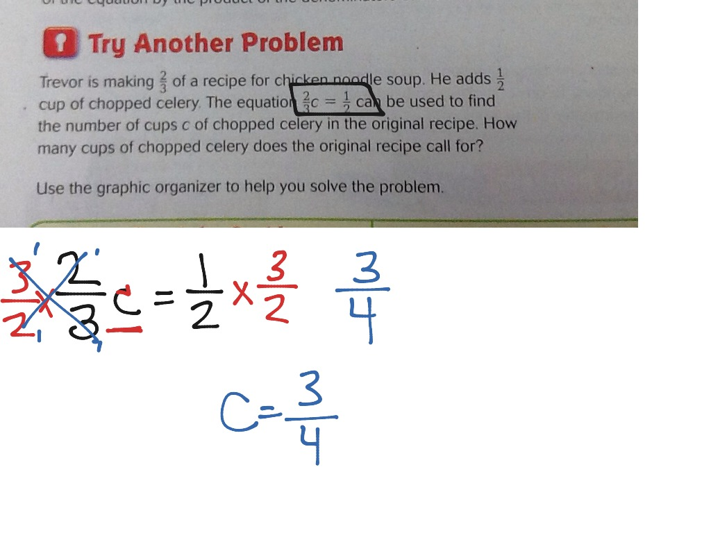 Lesson 8 7 Problem Solving Equations With Fractions