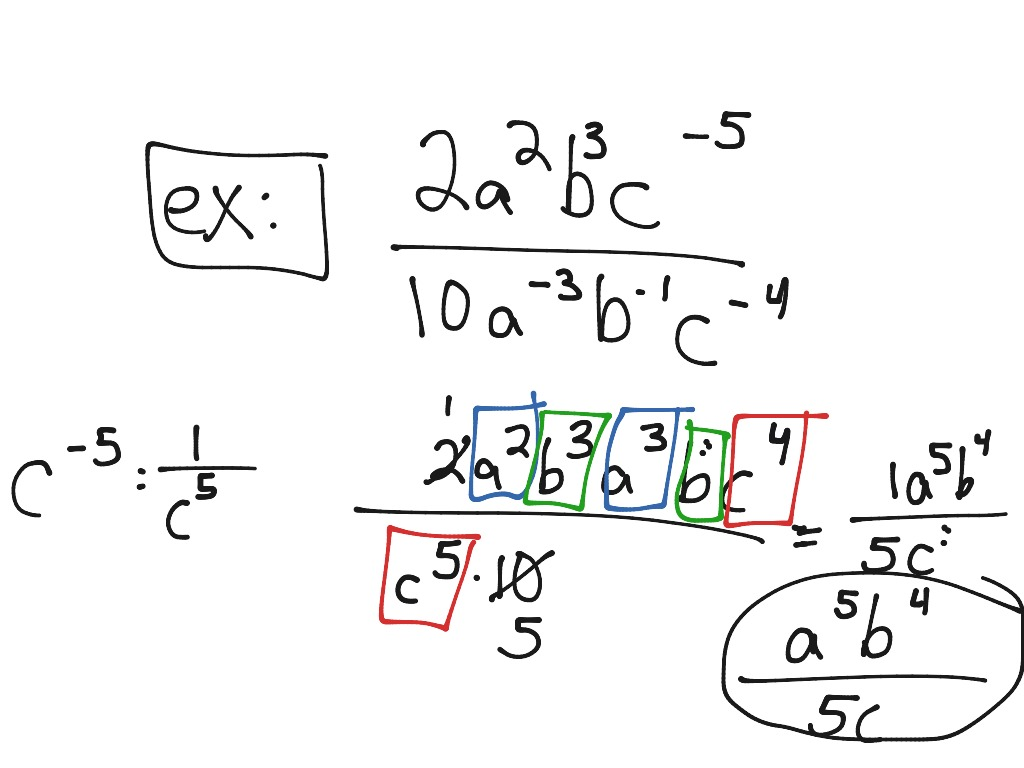 Multiplying And Dividing With Exponents