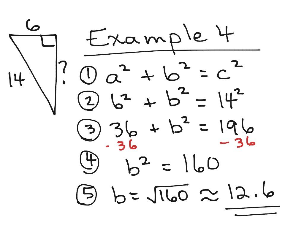 Pythagorean Theorem Finding B Ex4