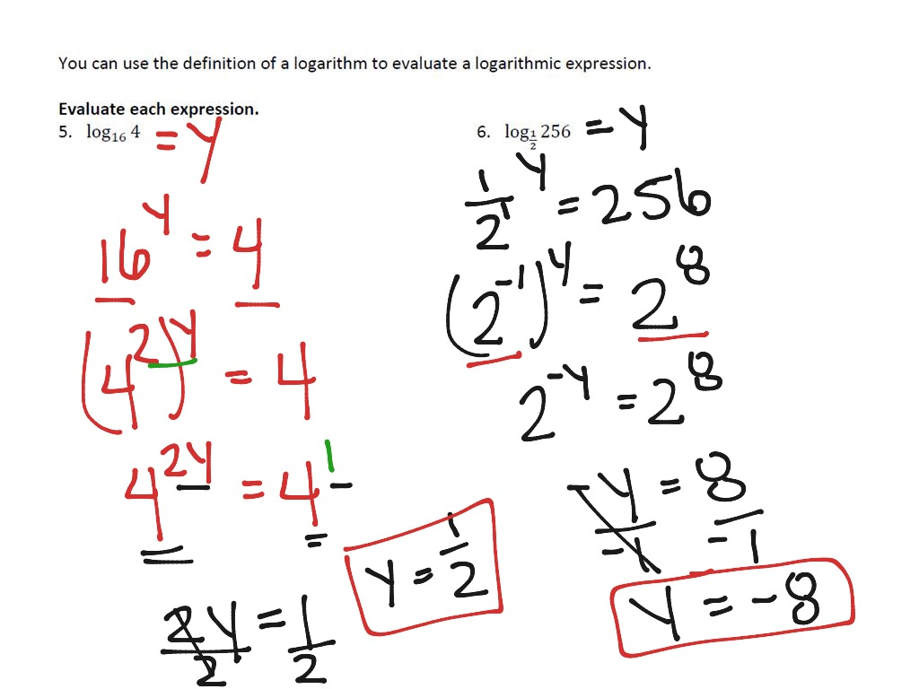 O5c3 Logarithmic Functions And Expressions Part 1